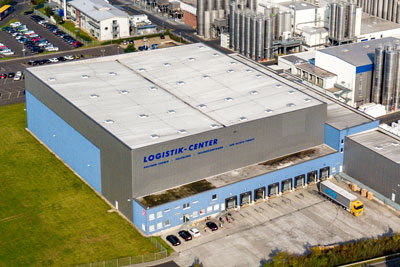 Aerial view of the logistics centre opened in 2009.