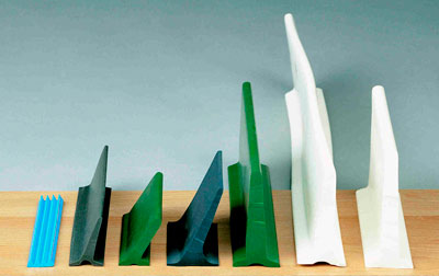 Selection of the first plastic profiles.
